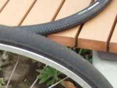 自転車の後輪